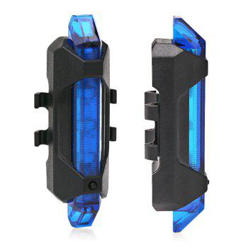 Portable LED USB Rechargeable Cycling Bike Tail Light - BLUE BLUE