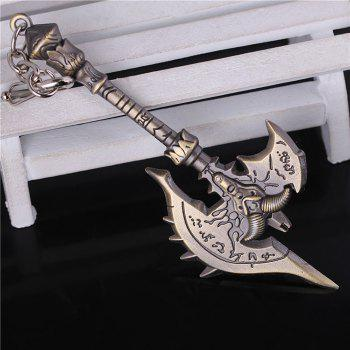 Key Chain Ax Style Hanging Pendant Alloy Keyring Online Video Game Toy for Bag Decoration - 4.7 inch