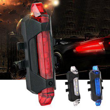 Portable LED USB Rechargeable Cycling Bike Tail Light -  RED