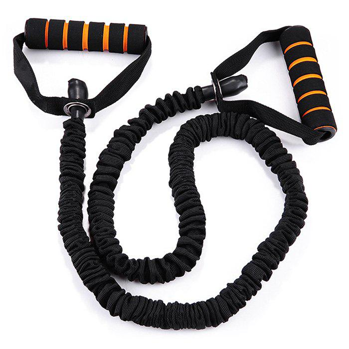 Latex Elastic Strength Trainer Resistant Band for Yoga Fitness Exercise - BLACK