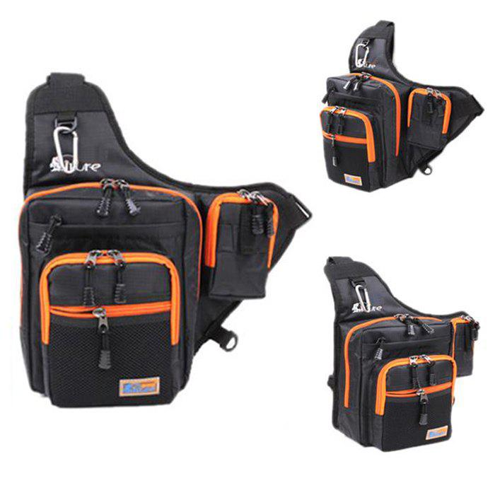 ILURE 4L Fishing Bag Multipurpose Waterproof Saddle Pack - BLACK