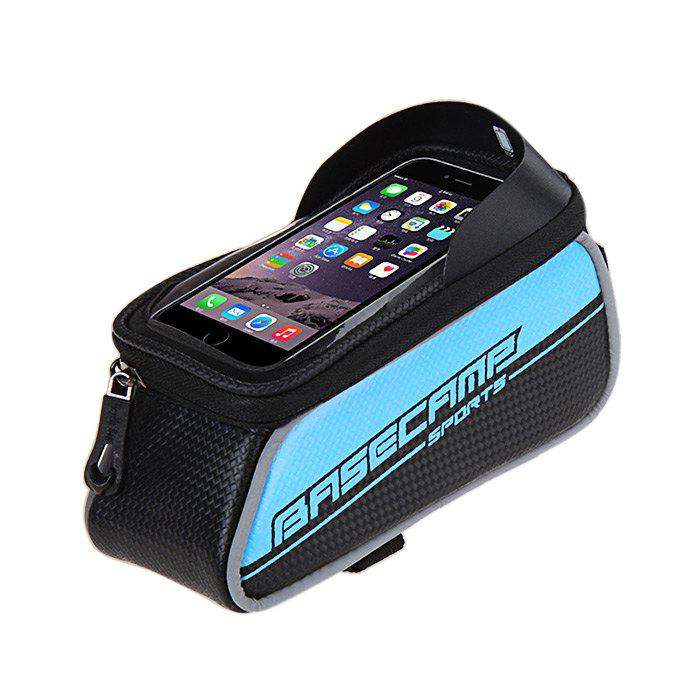 BaseCamp BC - 301 Touch Screen Water Resistant 5.5 inch Bicycle Front Tube Bag for Cycling - BLUE