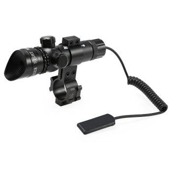 Compact Tactical Bright Light Red Dot Laser Telescope - BLACK BLACK
