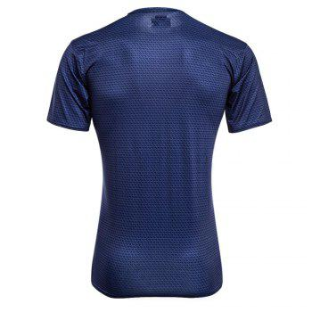 Stylish Round Neck Slim T-shirt with 3D Printing for Men - M M