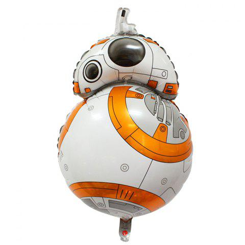 Auto-Seal BB - 8 Robot Style Foil Balloon Reuse Party / Birthday Decor Inflatable Gift for Children - COLORMIX