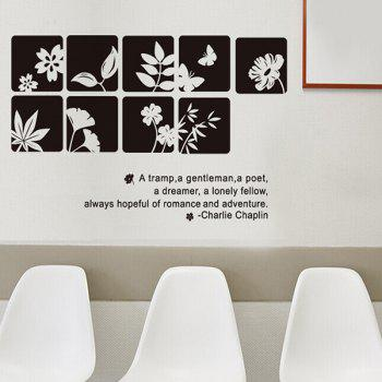 Exquisite Flowers Style Removable Wall Sticker - COLORMIX