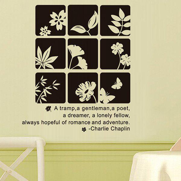 Exquisite PVC Black Flowers Style Removable Wall Sticker Art Decal Sitting Room and Sofa