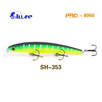 ILURE PEO Minnow Short-tongue Hard Fishing Bait with Hooks - GREEN GREEN