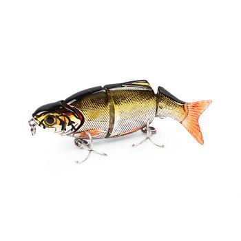 ILURE Osprey Minnow Fishing Bait Multi Section Slowly-sinking Lure with Hooks - YELLOW AND BLACK YELLOW/BLACK