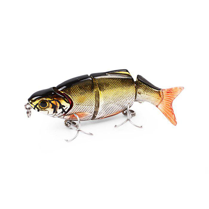 ILURE Osprey Minnow Fishing Bait Multi Section Slowly-sinking Lure with Hooks - YELLOW/BLACK