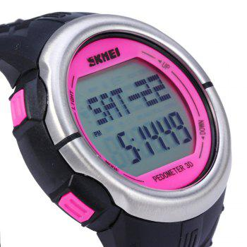 SKMEI 1058 Heart Rate Sports LED Watch with Pedometer Function Water Resistance Wristwatch - ROSE