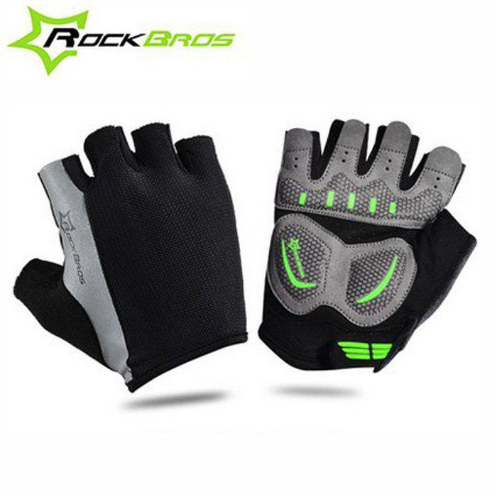 ROCKBROS Summer Unisex Half-finger Cycling Gloves - BLACK L