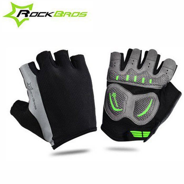 ROCKBROS Summer Unisex Half-finger Cycling Gloves - BLACK M