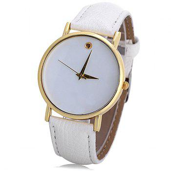 Stylish Quartz Swiss Watch with Analog Indicate Leather Watch Band for Women