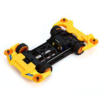 AULDEY 88009 Racing Car Kit ABS Building Brick Educational Birthday Present with Brushed Motor - COLORMIX COLORMIX