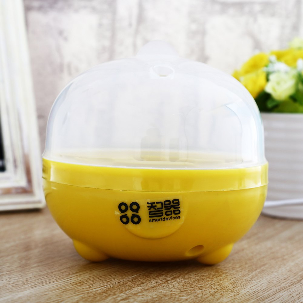Practical Mini Electric Egg Boiler Eggs Cooker Steamer Kitchen Tool - WHITE/YELLOW