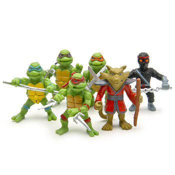 5cm 6PCs Movie Figure Turtle Key Chain Keyring Kid Toy Decoration for Bag Desktop - STYLE 1 STYLE 1