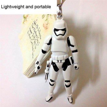 Movie Soldier Figure Key Chain Keyring Kid Toy for Bag Pendant -  WHITE/BLACK