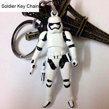 Movie Soldier Figure Key Chain Keyring Kid Toy for Bag Pendant - WHITE AND BLACK WHITE/BLACK