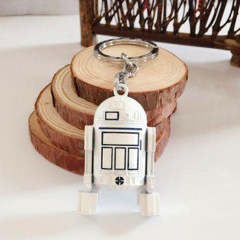 Portable Movie Robot Style Key Chain Alloy Hanging Keyring for Bag Pendant - COLORMIX COLORMIX