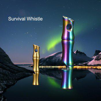 FURA High Decibel Stainless Steel Bamboo Whistle for Outdoor Survival