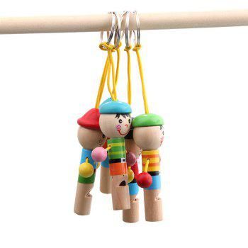 1PC Mini Cartoon Whistle Wooden Baby Kid Musical Development Toy -  COLORMIX