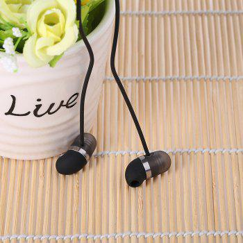 Original Xiaomi Mi Capsule Design Half In-ear Earphones with Mic On-cord Control - BLACK