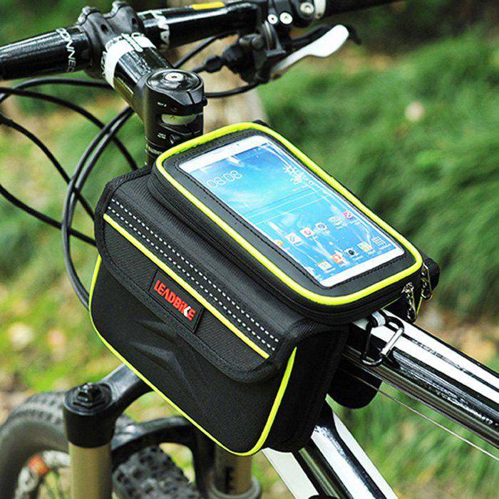 Leadbike A46 Portable Waterproof Top Front Frame Tube Bag with Double PouchesHome<br><br><br>Color: BLACK