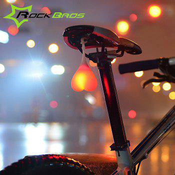 ROCKBROS HY - LD228 2 Modes LED Silicone Bicycle Rear Light - RED RED