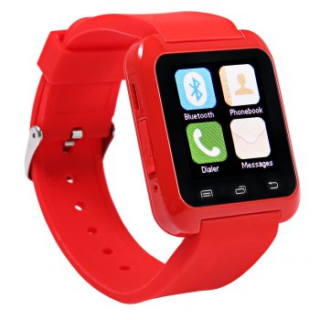 U8 Smart Watch with Pedometer Function - RED