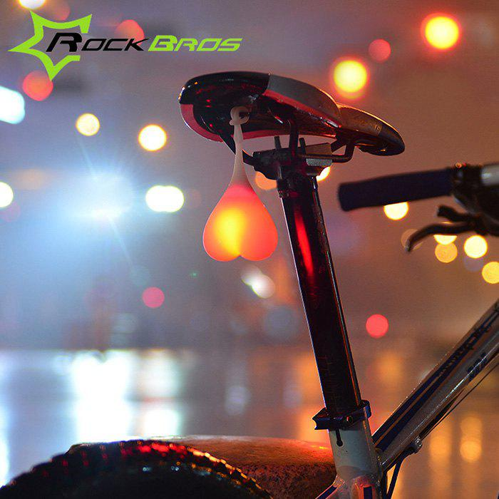 ROCKBROS HY - LD228 2 Modes LED Silicone Bicycle Rear Light - RED