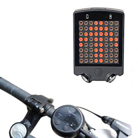 LEADBIKE A112 Wireless Remote Control USB Rechargeable Bicycle Turn Light - BLACK