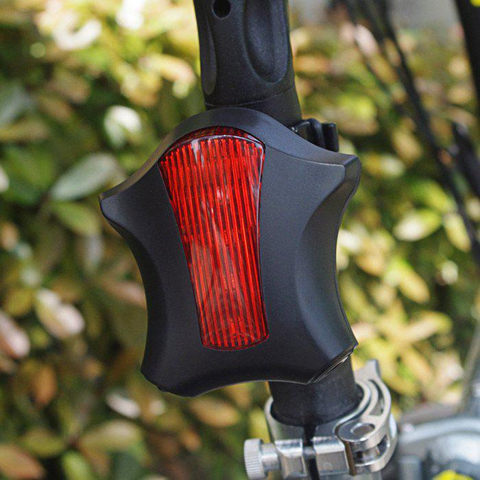 LEADBIKE Starfish Shaped Night Bicycle Tail Light with Laser Parallel Ray - RED