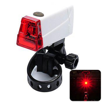 LEADBIKE A55 LED Bicycle Night Tail Light for Cycling Safety - WHITE WHITE