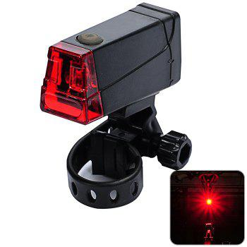 LEADBIKE A55 LED Bicycle Night Tail Light for Cycling Safety - BLACK BLACK
