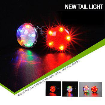LEADBIKE A105 UFO Projection Safety LED Bicycle Tail Light - COLORFUL COLORFUL