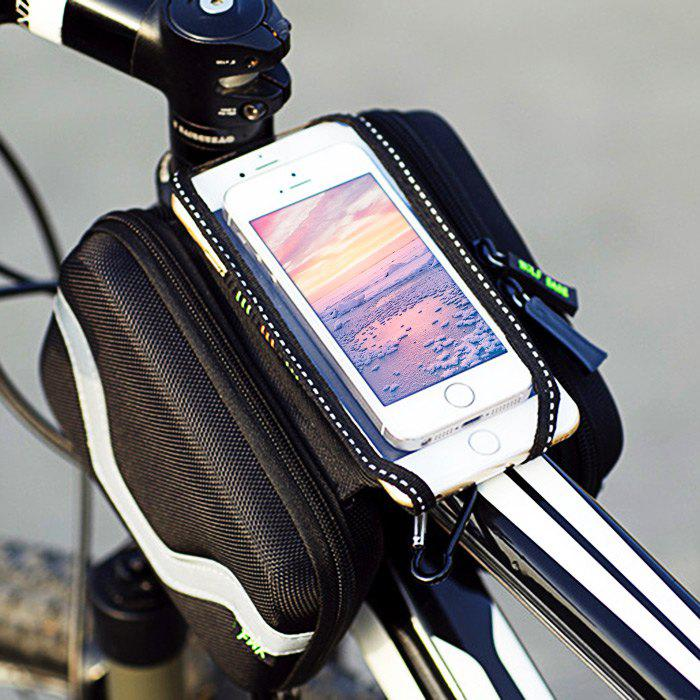 LEADBIKE A42 Touchscreen Water Resistant Double Pouch Bike Phone Bag - BLACK GREY