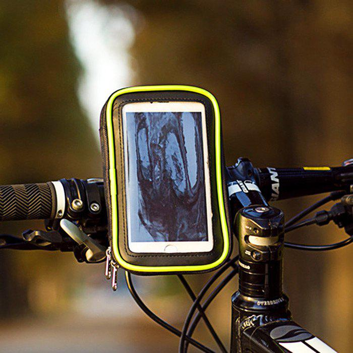 LEADBIKE A44 Touchscreen Water Resistant Bike Handlebar Phone BagHome<br><br><br>Color: GREEN