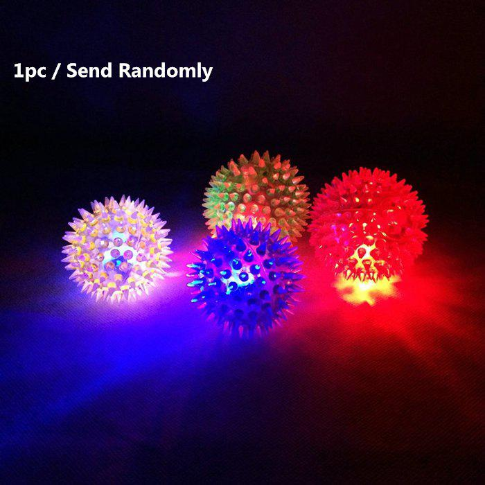 1pc Creative Kid Toy Flash LED Light Up Bouncing Hedgehog Massage Ball    COLORMIX