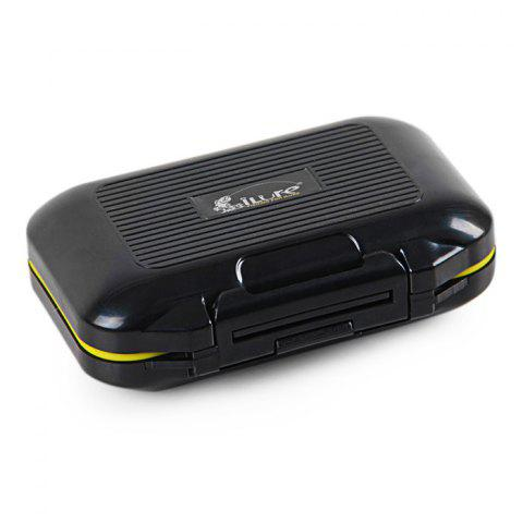ILURE Rock Fishing Bait Box Water Resistant Small Container - BLACK