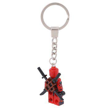 Soldier Shape Hanging Pendant Plastic Key Chain Movie Product Bag Decor - 3.14 inch - COLORMIX STYLE 1