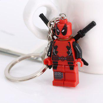 Soldier Shape Hanging Pendant Plastic Key Chain Movie Product Bag Decor - 3.14 inch - COLORMIX STYLE 2