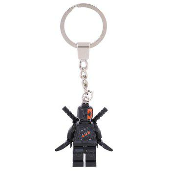 Soldier Shape Hanging Pendant Plastic Key Chain Movie Product Bag Decor - 3.14 inch - COLORMIX STYLE 3