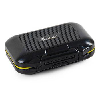 ILURE Rock Fishing Bait Box Water Resistant Small Container - BLACK BLACK