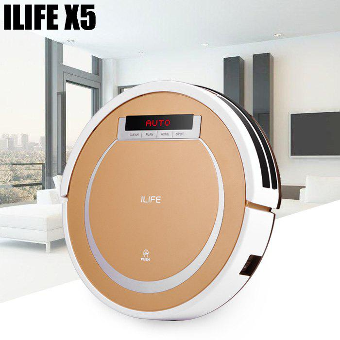 ILIFE X5 Smart Robotic Vacuum Cleaner 2 in 1 Cordless Dry Wet Sweeping Cleaning Machine -  TYRANT GOLD