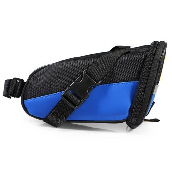 B - SOUL YA080 Scratch Resistant Bicycle Saddle Bag -  BLUE