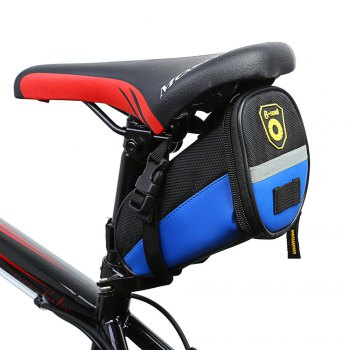 B - SOUL YA080 Scratch Resistant Bicycle Saddle Bag - BLUE BLUE