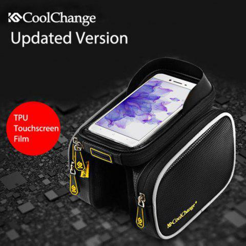 Coolchange 12019N 6.2 Inch TPU Touchscreen Water Resistant Saddle Bag - BLACK
