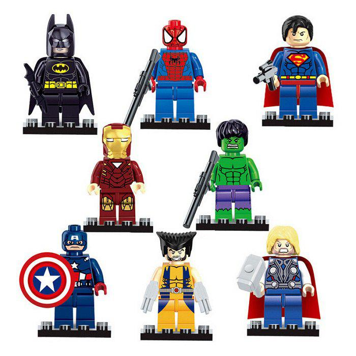 Buy 8 Box / Set Hero Style Building Block Educational Movie Product Kid Toy COLORMIX