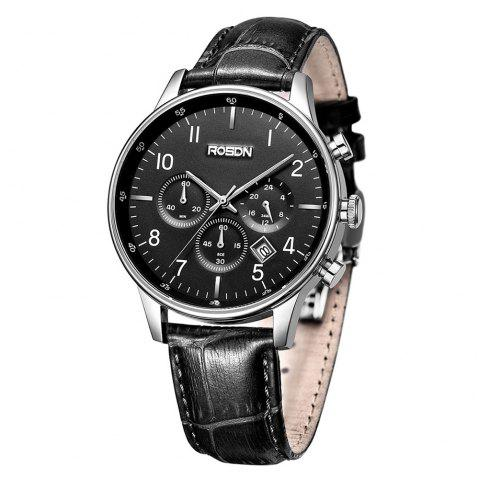 ROSDN Fashion Imported Movement Sports Quartz Watch for Men - BLACK